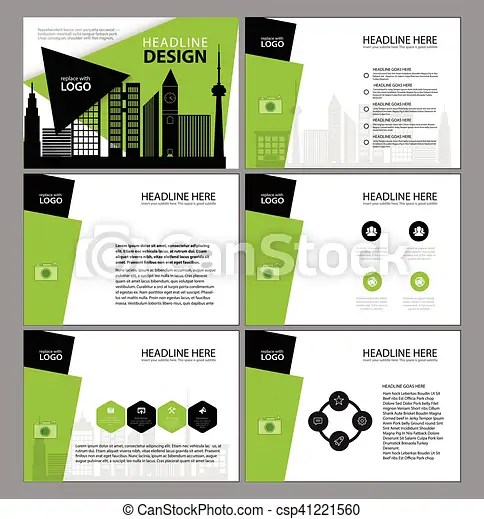 Presentation templates, infographic elements template flat design