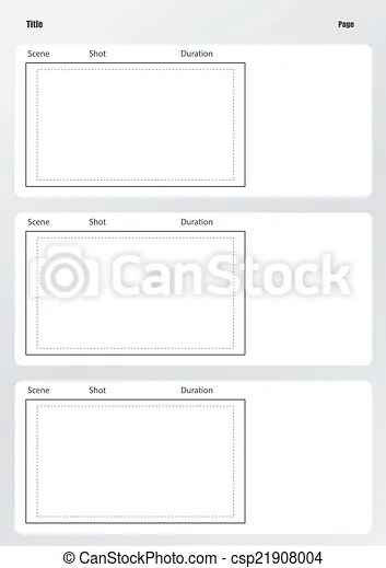 Professional of film storyboard template vertical vector clipart