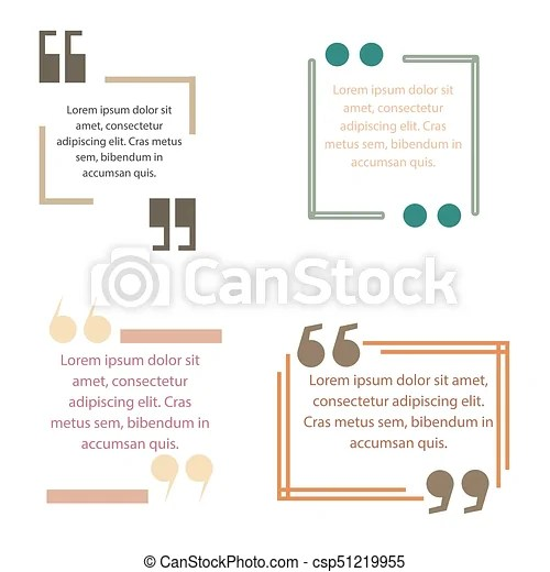 Quote box text template vector block quotation design creative - quotation design template
