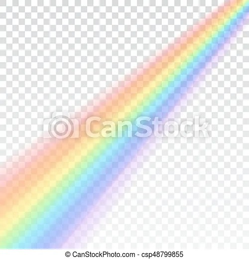 Rainbow icon realistic isolated white transparent background