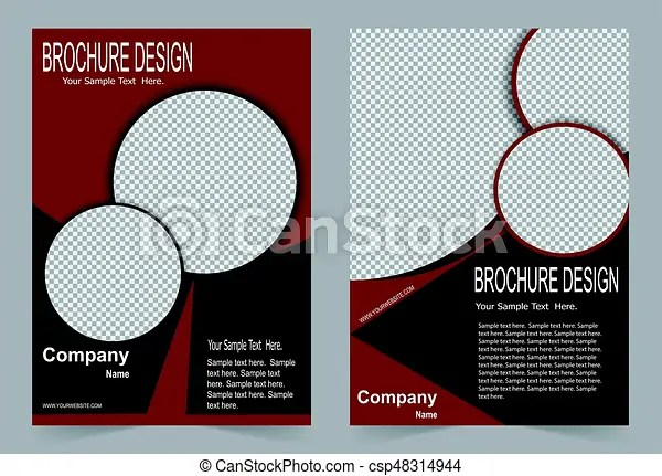 Red and black brochure template flyer design, abstract template for - black flyer template