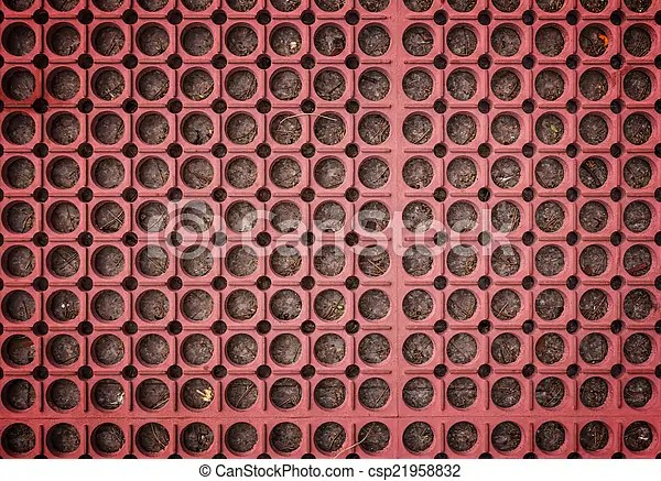 Red Carpet Background Red Plastic Doormat Texture And