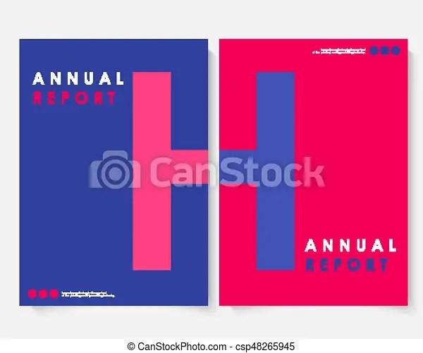 Red square annual report cover design template vector brochure