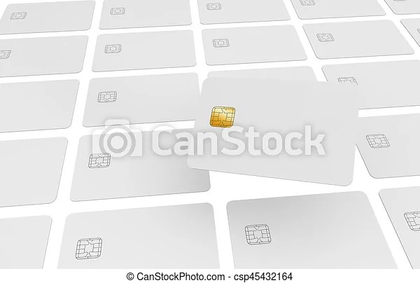 Repeated credit cards Blank credit card template, a chip stock - printable credit card template