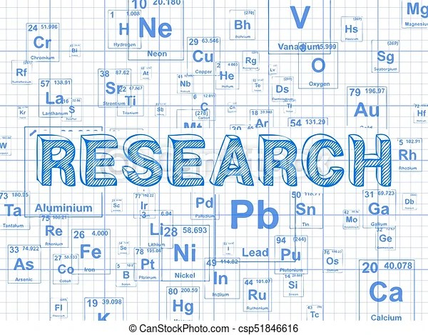 Research element graph paper background Research word on vector