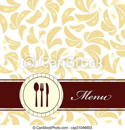 Restaurant menu background Vector retro menu background design