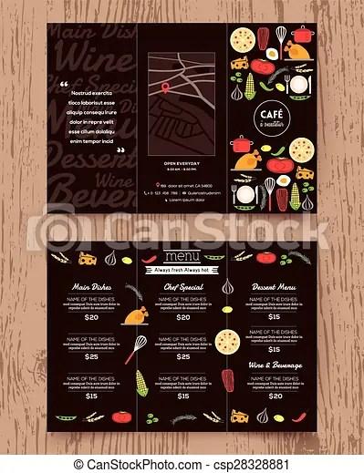 Restaurant menu design pamphlet template Restaurant menu design