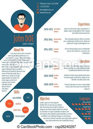 Resume cv template with photo and details Cool new modern cv resume