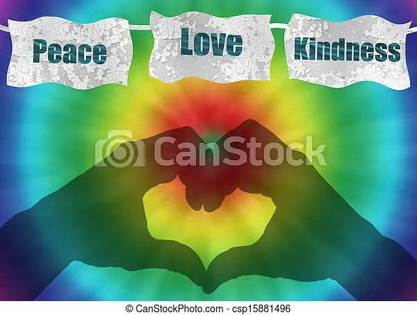 Businessman Quotes Wallpaper Retro Peace Love And Kindness Image With Tie Dye Retro