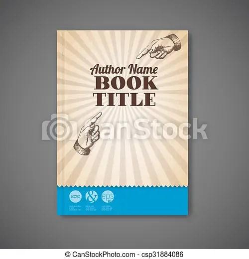 Retro vintage vector brochure / book / flyer template Retro vintage - retro brochure template
