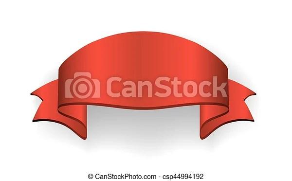 Ribbon banner satin blank Red ribbon banner satin blank design