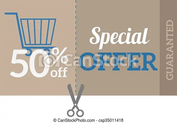 Sale coupon certificate template vector illustration Sale coupon