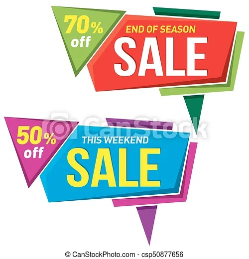Sale label price tag banner badge template sticker design - sale tag template