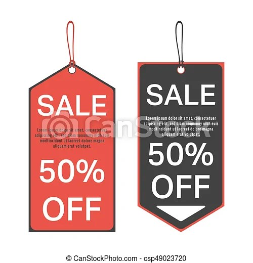 Sale tag template Sale tag 50 percent off template special - sale tag template
