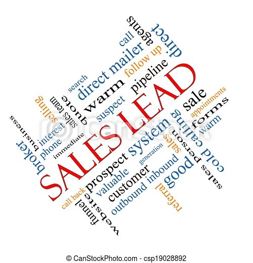 Sales lead word cloud concept angled Sales lead word cloud concept - sales word