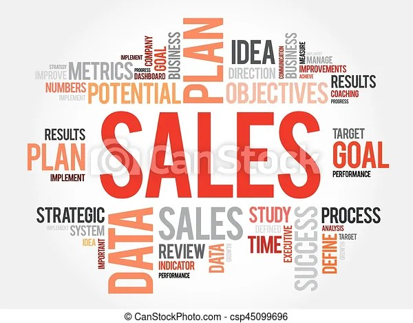 Sales word cloud, business concept - sales word