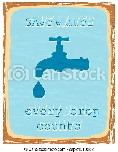 Save water, every drop counts poster vector - Search Clip Art - poster on line