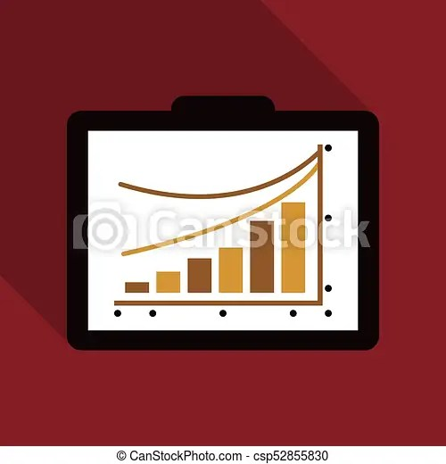 Schedule chart on table vector economic visualization information