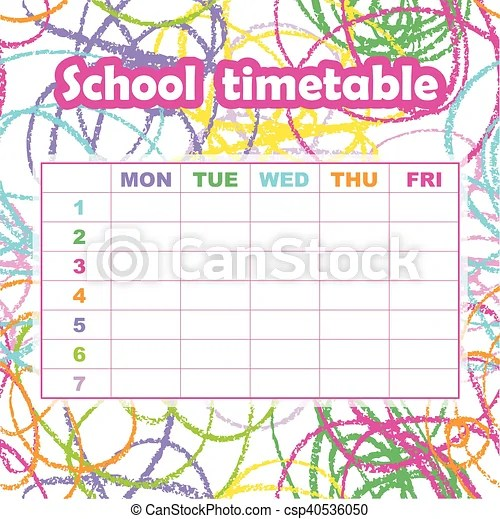 School Timetable Template Free Download cooltestinfo