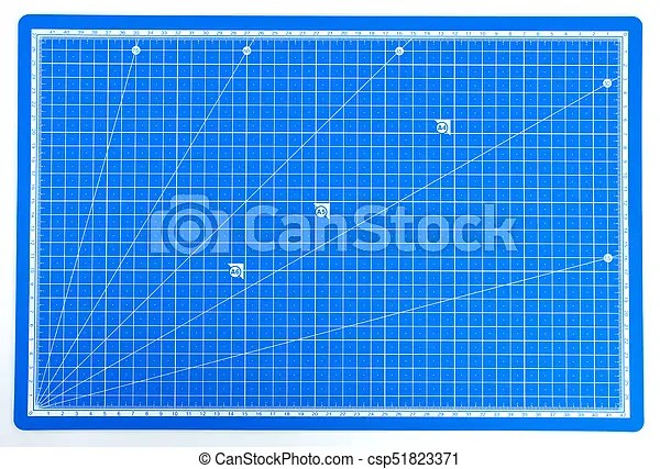 Scientific engineering grid paper with scale blueprint background