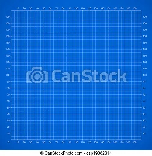 Scientific engineering grid paper with scale vector background