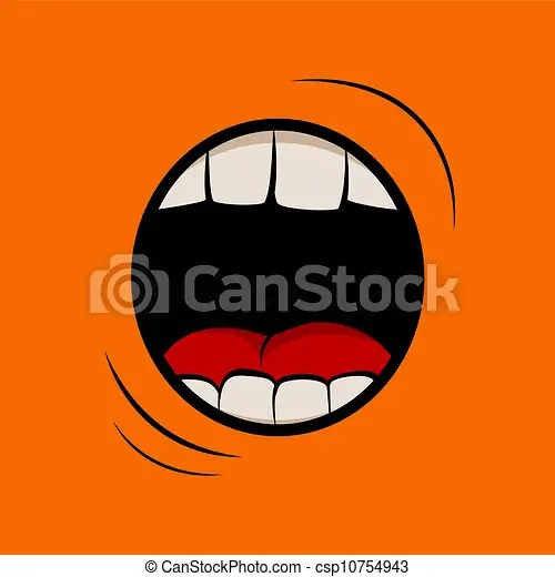 Scary Little Girl Wallpaper Scream Vector Illustartion With Screaming Mouth