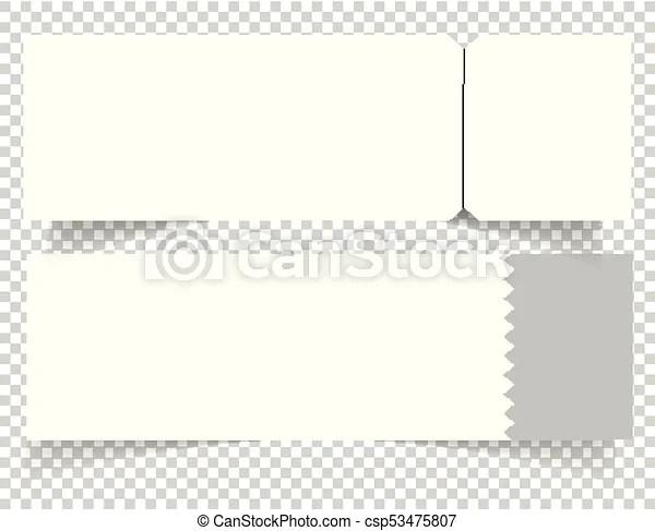 Set of blank event concert ticket mockup template concert