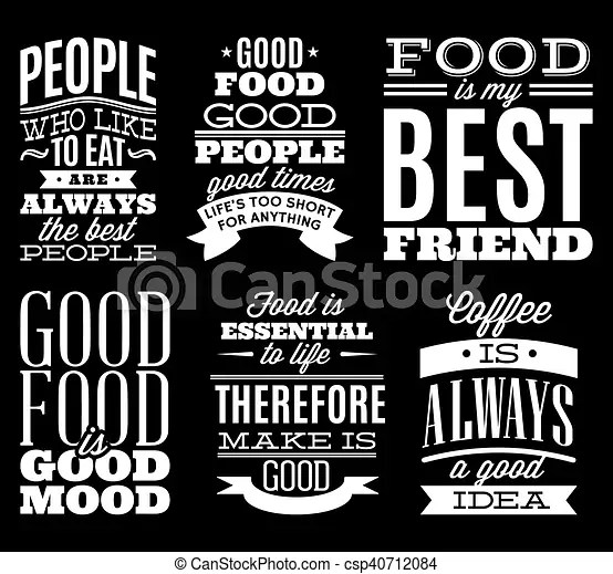 Typography Quotes Wallpaper Set Of Vintage Typographic Food Quotes To The Menu Or T