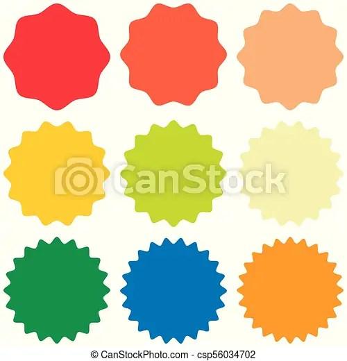 Set template sunburst, shapes badges vector starburst promo burst