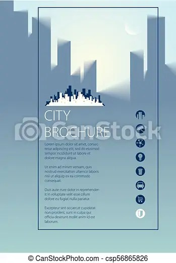 Simple city traveling tourist guide book brochure, flyer, cover - guidebook template