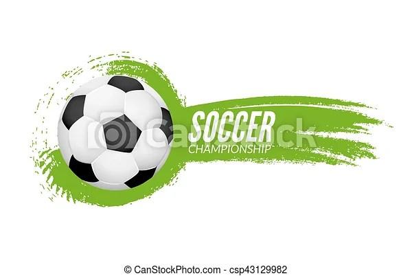 Soccer football poster design template soccer grunge banner football