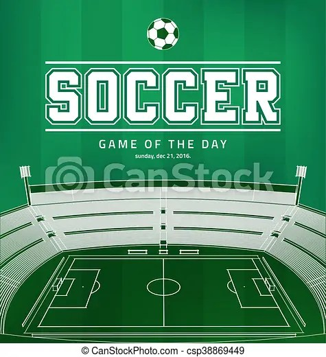 Soccer football poster Soccer football vector poster template