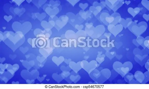 Soft blue hearts on graduated background valentines day concept