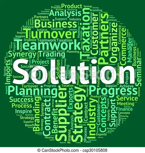 Solution word means successful succeed and wordclouds Solution word - words for achievement