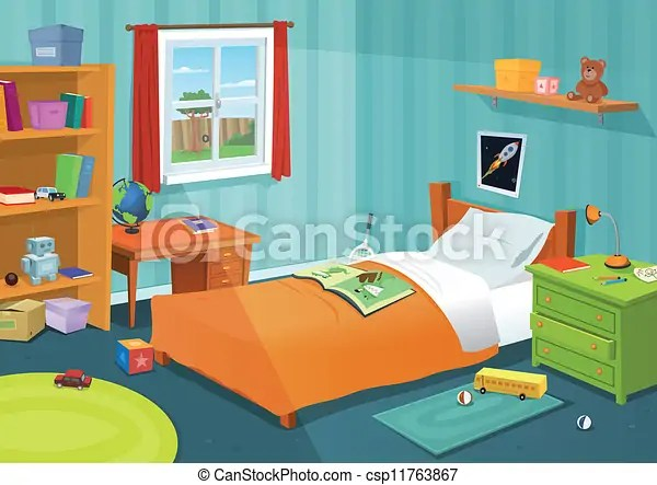 Some Kid Bedroom Illustration Of A Cartoon Children