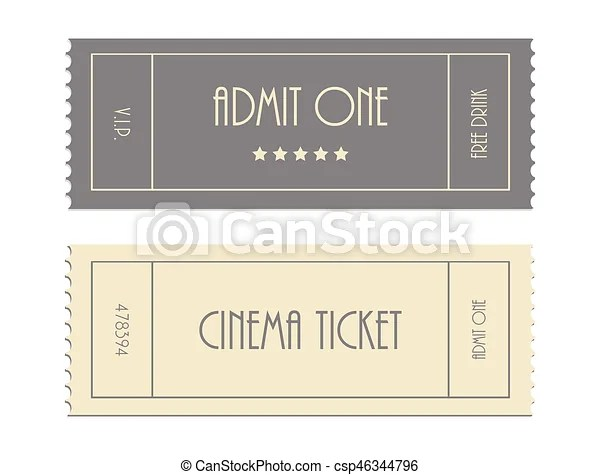 Special vector ticket template, admit one, cinema ticket eps vectors - admit one ticket template