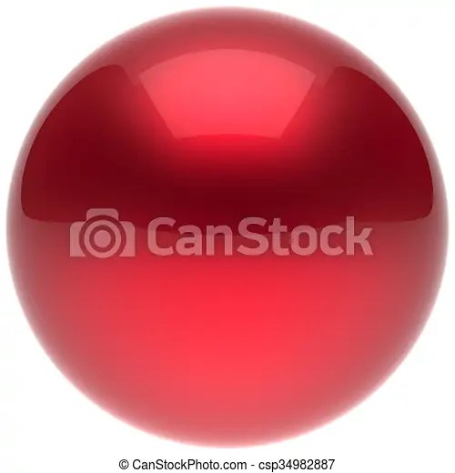 Sphere ball button circle round basic solid bubble red balloon