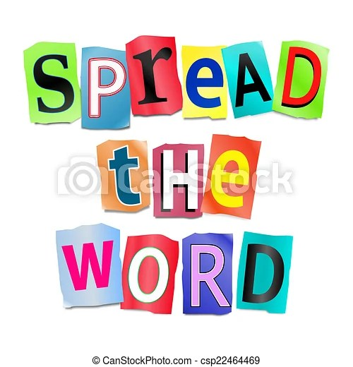 Spread the word Stock Illustrations 188 Spread the word clip art - word clip art