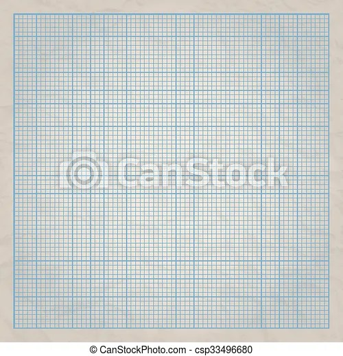 Square millimeter engineering grid paper on old paper background