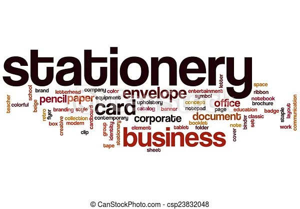 Stationery word cloud concept - stationery for word documents