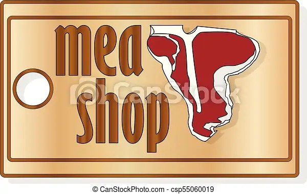 Steak house or meat store labels, emblems, logo templates signs set