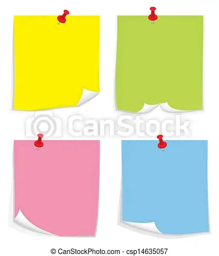 Sticky notes clipart vector - Search Illustration, Drawings and EPS