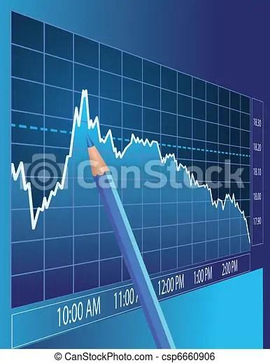 Stock market analysis finance concept illustration clip art vector