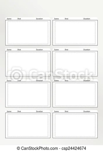 Storyboard template vertical x8 Professional of film storyboard