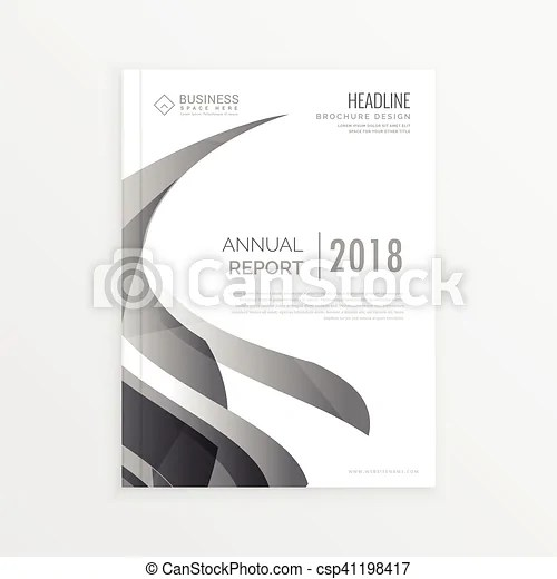 Annual report business statistics template for magazine, eps