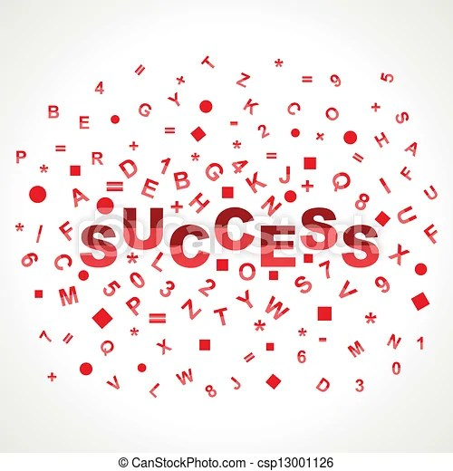 Success word with in alphabets stock vector - word alphabets