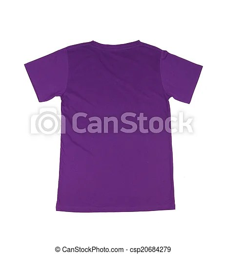 Violet t-shirt template (back side) on white background - t shirt template