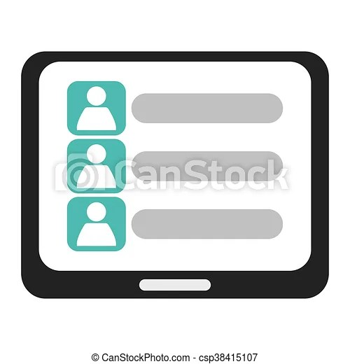 Contact list Stock Illustration Images 1,996 Contact list - contact list