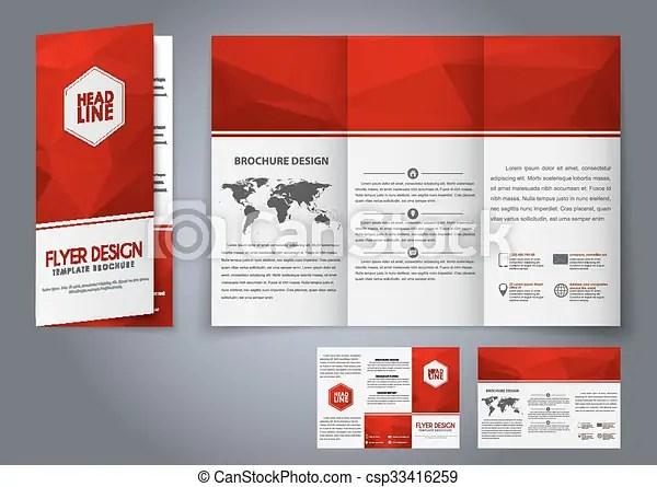 Template design three fold flyer, brochure Design tri-fold