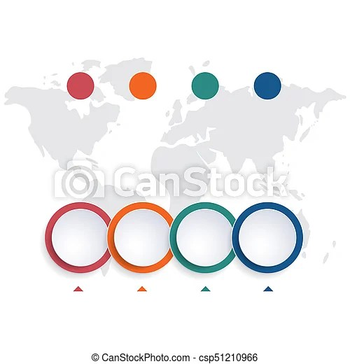 Template infographic color bubble chart 4 positions Template - bubble chart